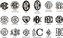 Monogram Wooden Sign Cut-out 22""