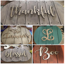 Wooden Family Name Cut-Outs