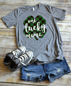 St Patrick's Day Shirt: Shamrock One Lucky Mama