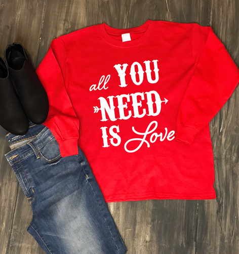 Valentine's Day Shirt: All You Need is Love