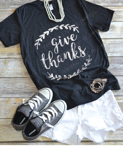Give Thanks Shirt - Fall Shirt