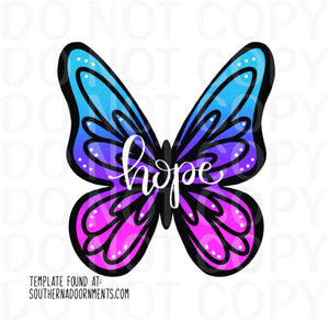 Unfinished, Butterfly, Summer, Spring, Hope, Door, Hanger, Ready, To, Paint, Custom, Cut, Wholesale, Etch, Laser