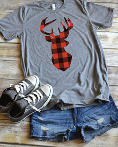 Lumberjack Plaid Deer - Holiday Shirt