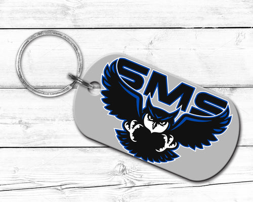 SMS - Dog Tag Keychain