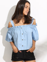 Maddy Chambray Top
