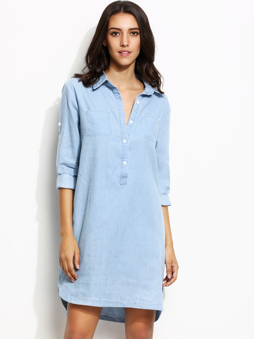 Dallas Chambray Shirt Dress