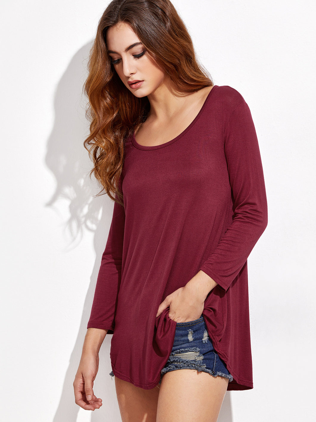 Merlot Long Sleeve Tee