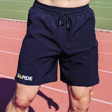 track and field black shorts