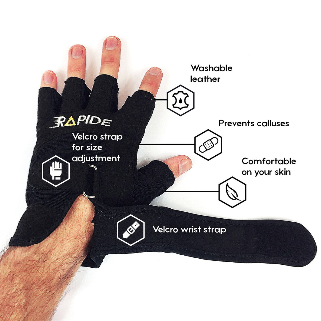 Weightlifting gloves with wrist support