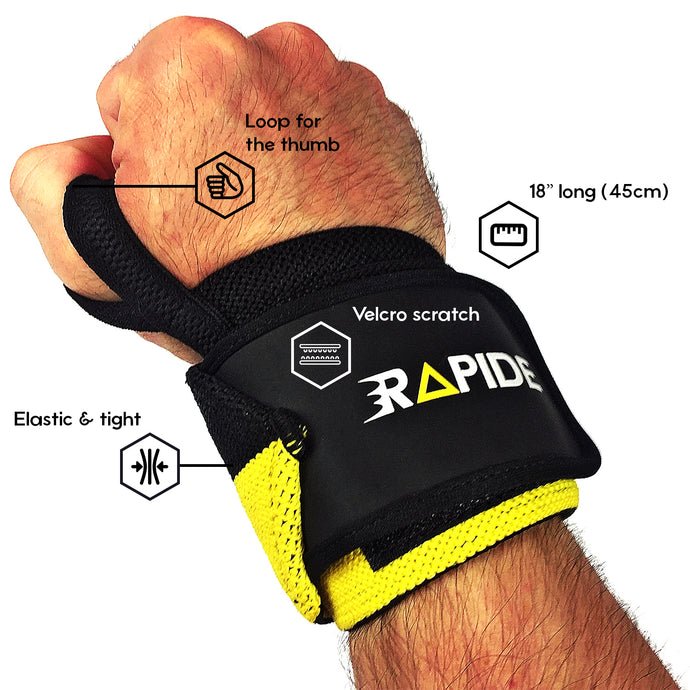 Buy black wrist wraps