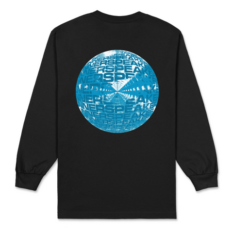 Inner Clouds / Black Long Sleeve T-shirt