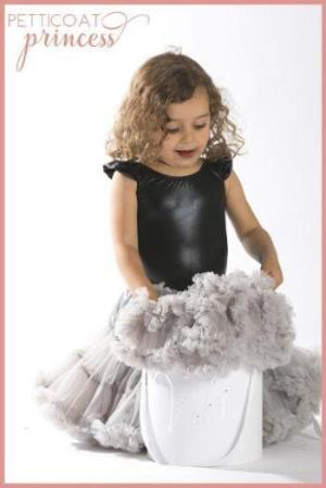 Argente silver grey petticoat tutu skirt with customised gift box