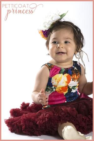burgundy red petticoat tutu skirt for toddler