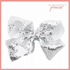 Large Sequin Bow Hairclip