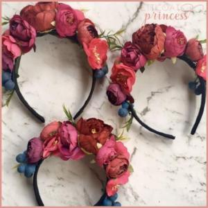 Ruby red mini princess flower crown