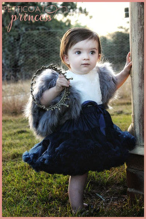 Navy blue petticoat tutu full skirt