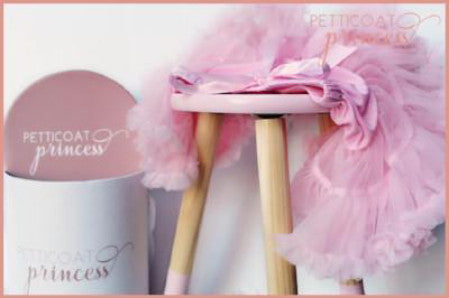 baby pink musk ribbon petticoat tutu and gift box