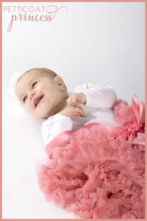 rose pink petticoat tutu skirt newborn baby photography