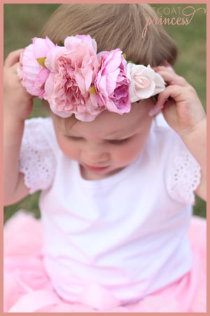 Pink flower crown for mini princess