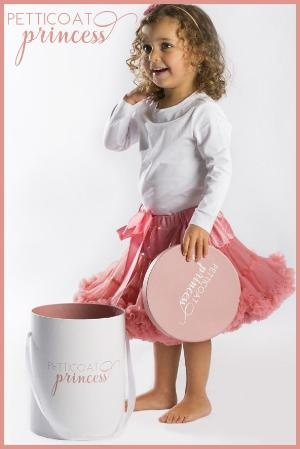 rose pink petticoat tutu skirt with gift box