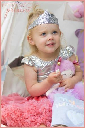 mini silver princess crowns