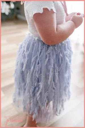 Sky Blue Feather Tutu