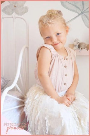 Cream Feather Tutu
