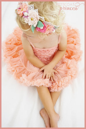 Candy coral pink rosette pettidress tutu dress