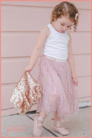 Dusty Pink Feather Tutu