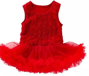 Red pettidress romper