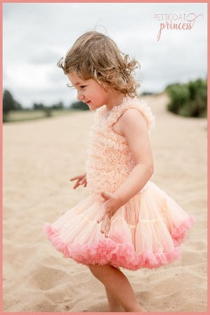 Peach and Coral Pettidress