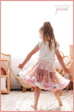 Dusty Pink Rainbow Petticoat Tutu