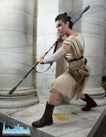 One off - Rey staff 3-part with strap prop - Wulfgar Weapons & Props