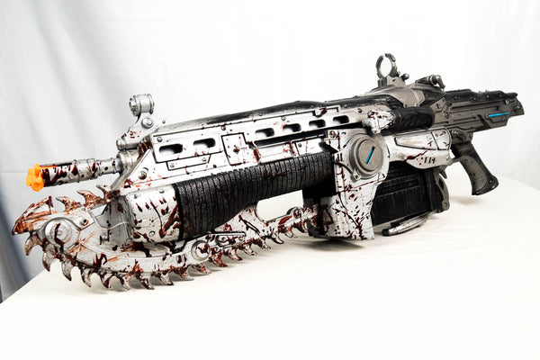 NECA Gears of War Lancer 36-Inch Prop Replica [Bloody Version] Repaint (Gears of War)