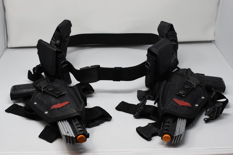 Red Hood Dual Pistols w/ Belt & Holsters Props - Wulfgar Weapons & Props