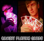 Gambit Inspired LED lit Aces Cards (4)