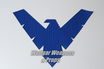 Nightwing Symbol (Rubber) - Wulfgar Weapons & Props