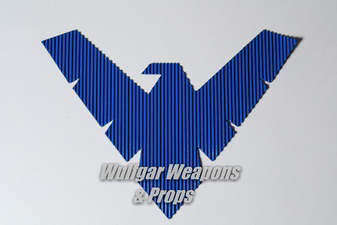 Nightwing Inspired Symbol: Rubber - Wulfgar Weapons & Props