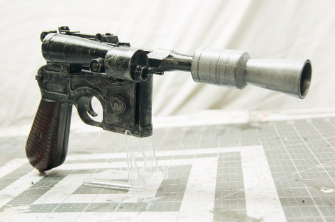 Han Solo DL-44 Blaster: Star Wars Inspired 1:1 Replica - Wulfgar Weapons & Props
