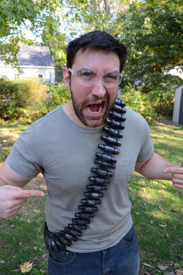 Plastic costume Bandolier. Deadpool, Mad Max, cosplay costume prop. Hand Painted