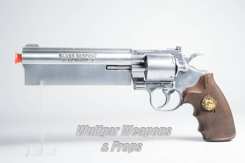 Silver Serpent Revolver Prop - Wulfgar Weapons & Props