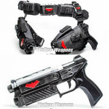 Classic Style - Red Hood Dual Pistols w/ Belt & Holsters Props - Wulfgar Weapons & Props
