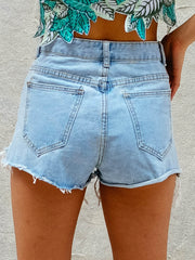 The Lola High-Waist Denim Shorts
