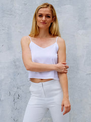 The Elise Minimal Silk Cami