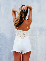 The Lani Back Tie Cami