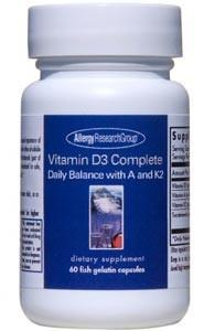 Allergy Research Group Vitamin D3 Complete Daily Balance with A and K2