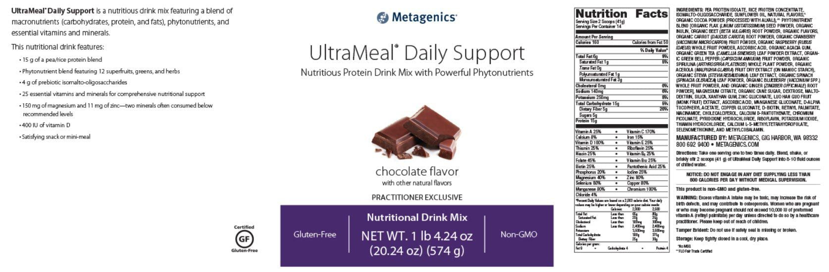 Metagenics UltraMeal Daily Support
