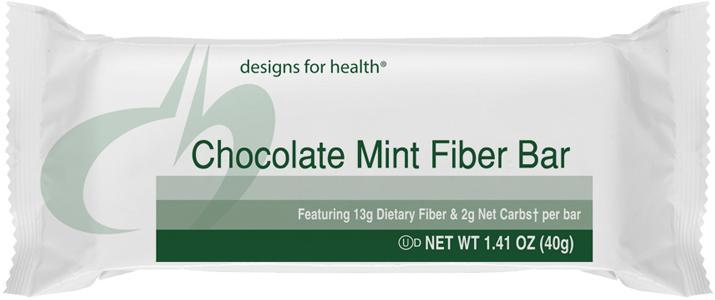 Designs for Health Chocolate Mint Fiber Bar