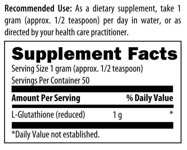 Designs for Health L-Glutathione Power