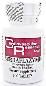 Ecological Formulas/Cardiovascular Research Serraflazyme (Serratia Peptidase 5mg)